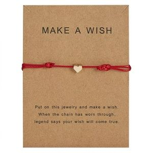 Jewelry - BrandNew Handmade Make a wish adjustable Bracelet